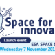 Launch event of ESA Space Solutions Belgium